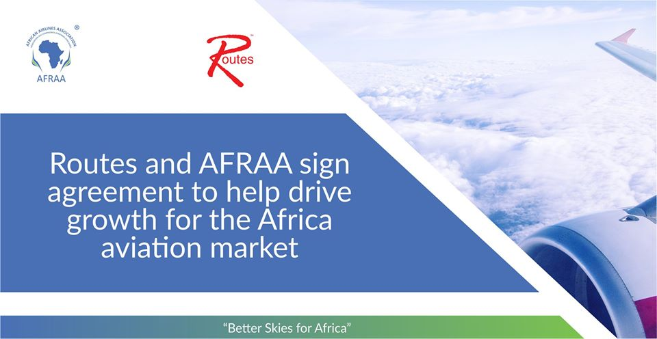 Routes and AFRAA sign agreement to help drive growth for the Africa aviation market